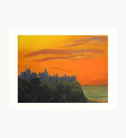 Dunluce Castle at dusk Art Print
