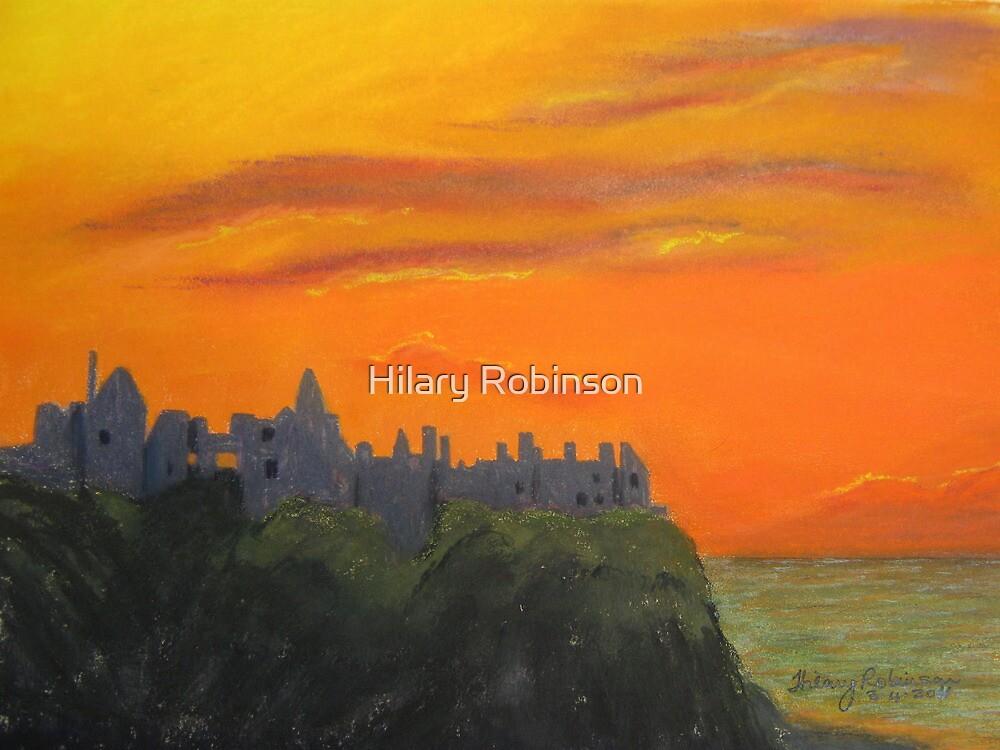 Dunluce Castle at dusk by Hilary Robinson