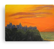 Dunluce Castle at dusk Canvas Print