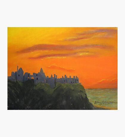 Dunluce Castle at dusk Photographic Print