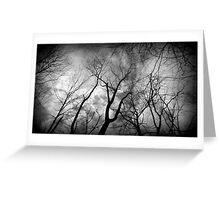 One creepy tree line Greeting Card