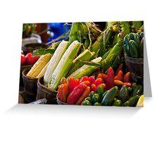 Farmer's Market Bounty Greeting Card