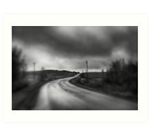 THERE LIES A ROAD Art Print