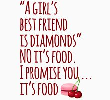 A Girl's Best Friend is ... FOOD Womens Fitted T-Shirt