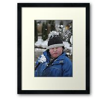 Snowball Fight! Framed Print