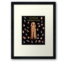 Scream Marketing Framed Print