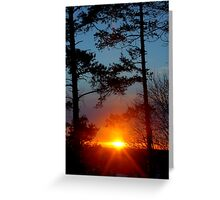 Sunset from golf course Greeting Card