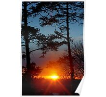 Sunset from golf course Poster