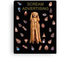 Scream Advertising Canvas Print
