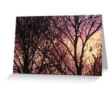 Surrey Sunset Greeting Card