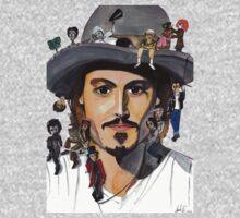 Johnny Depp no back Kids Tee