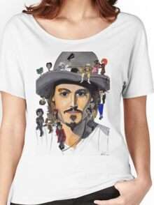Johnny Depp no back Women's Relaxed Fit T-Shirt
