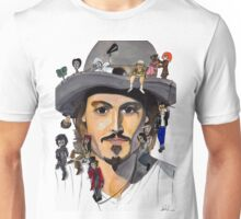 Johnny Depp no back Unisex T-Shirt
