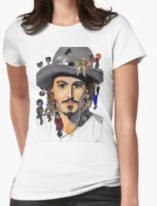 Johnny Depp no back Womens Fitted T-Shirt