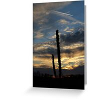 Sunset over empty field Greeting Card