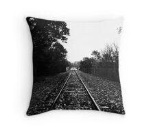 Letchworth State Park train trestle Throw Pillow