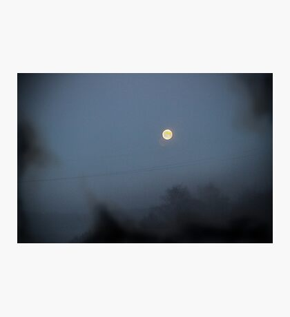 Moon Black Smoke Wire Photographic Print