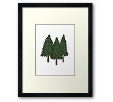 Pine Trees Framed Print