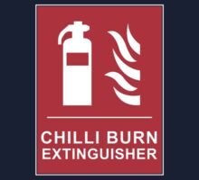 Chilli Burn Fire Extinguisher Funny Spicy Curry Baby Tee