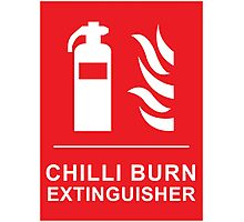 Chilli Burn Fire Extinguisher Funny Spicy Curry Photographic Print