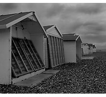 Happy Holiday Huts Photographic Print