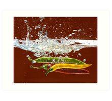 Three Hot Peppers Art Print