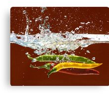 Three Hot Peppers Canvas Print