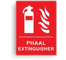 Funny Hot Spicy Curry Phaal Fire Extinguisher Joke Canvas Print