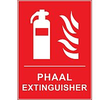 Funny Hot Spicy Curry Phaal Fire Extinguisher Joke Photographic Print