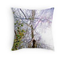 Forestry Lightened  Throw Pillow
