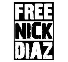 Free Nick Diaz Photographic Print