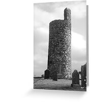 Round Tower at Old Kilcullen Greeting Card
