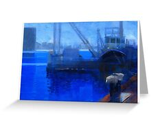 Boat crane Greeting Card