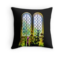 Flowers inside St Boniface Throw Pillow