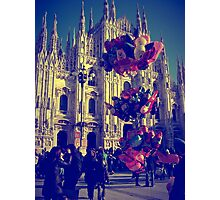 Balloons on the Piazza del Duomo Photographic Print