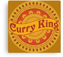 Curry King Indian Chef Eastern Asian Cuisine Restaurant Lover Canvas Print