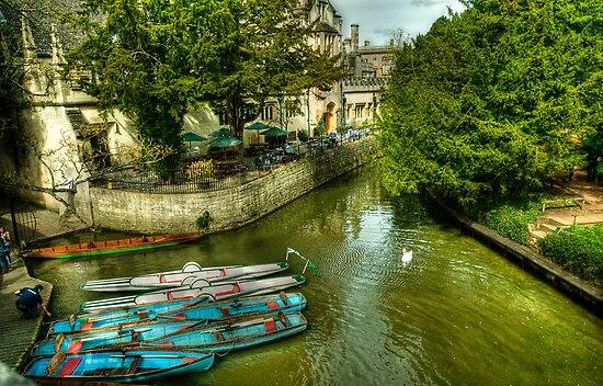 Punts, Patio and Parasols by John Hare