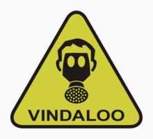 Vindaloo Curry Gas Mask Yellow Warning Sign Baby Tee