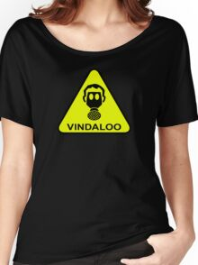 Vindaloo Curry Gas Mask Yellow Warning Sign Women's Relaxed Fit T-Shirt