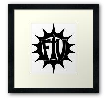 G.I.T.S. - Captain Fuckyouup Framed Print