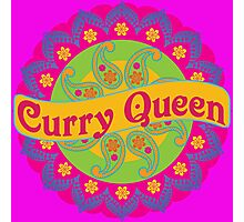Ethnic Print Curry Queen Spicy Curries Food Addict Photographic Print