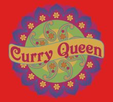 Ethnic Print Curry Queen Spicy Curries Food Addict One Piece - Short Sleeve