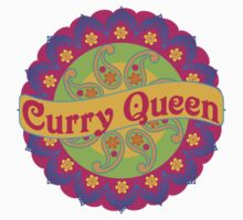 Ethnic Print Curry Queen Spicy Curries Food Addict One Piece - Long Sleeve