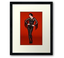 Burlesque Artist Framed Print