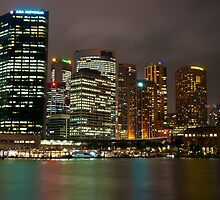 Sydney City at Night by Puggs