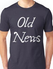 Old News Logo in White Unisex T-Shirt