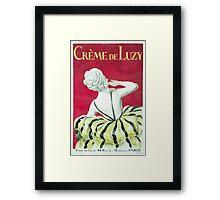 Leonetto Cappiello Affiche Crème de Luzy Framed Print