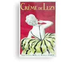 Leonetto Cappiello Affiche Crème de Luzy Metal Print