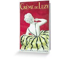 Leonetto Cappiello Affiche Crème de Luzy Greeting Card