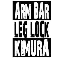 Jiu Jitsu - Arm Bar, Leg Lock, Kimura Photographic Print